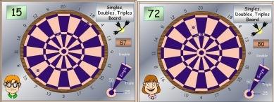 05 Dartboard 3 Singles Doubles Triples