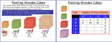 Painting Wooden Cubes