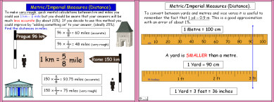 Metric 6 (Metric/Imperial Conversions:  Distance)
