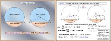 Mensuration 97 Area of a Segment