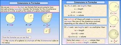 Dimensions in Formulae