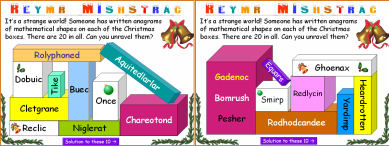 005 Christmas Geometric Shape Anagrams