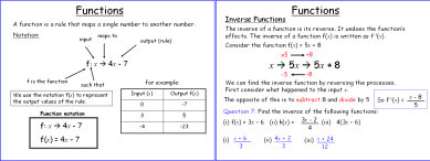 Functions (IGCSE)