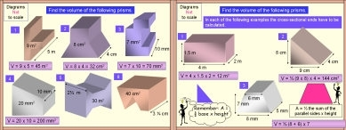 Mensuration 94 Volume of a Prism
