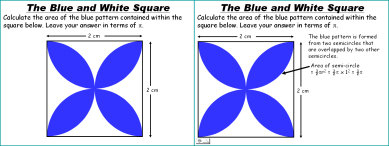The Blue and White Square