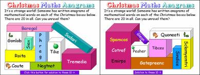 008e Christmas Maths Word Anagrams