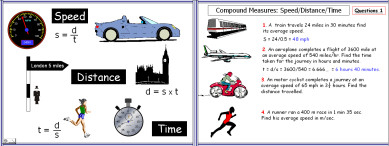 Compound Measures 1 (Speed/Distance/Time)