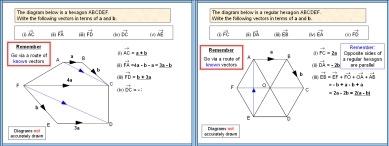 A PowerPoint math or maths presentation on Vectors