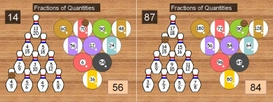26 Ten Pin 3 (Fractions of Quantities)