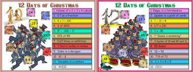 16 Twelve Days of Christmas (b4) Days 10 - 12