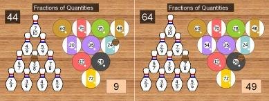 25 Ten Pin 2 (Fractions of Quantities)