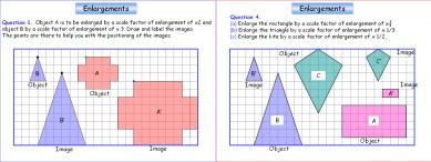 Transformations 3 (Enlargements)
