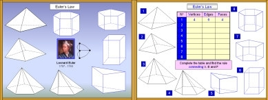 3D Shapes 2 ( Faces, Edges and Vertices: Eulers Law)