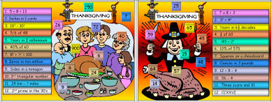 57 Thanksgiving Math Mayhem
