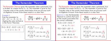 Remainder Theorem Maths PowerPoint Presentation