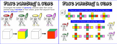 Face Painting a Cube