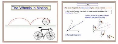 PowerPoint math or maths presentation on locus or Loci