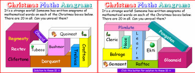 009e Christmas Maths Anagrams 3