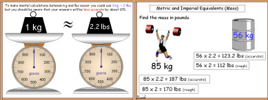 A Powerpoint math or maths presentation Metric/Imperial Units Mass