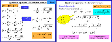 Quadratics 4 (Equations by Common Formula)