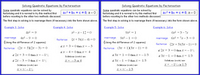 Quadratics 2 (Equations by Factorisation)